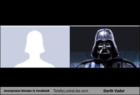 Anonymous Woman in Facebook Totally Looks Like Darth Vader