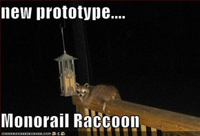 new prototype....  Monorail Raccoon