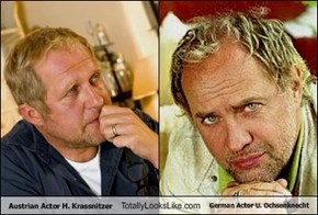 Austrian Actor H. Krassnitzer Totally Looks Like German Actor U. Ochsenknecht
