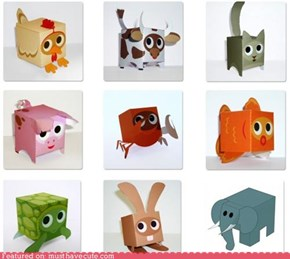 Free DIY Paper Box Animals