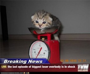 Breaking News - the last episode of biggest loser everbody is in shock
