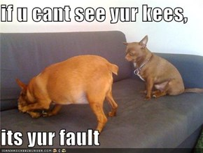 if u cant see yur kees,  its yur fault