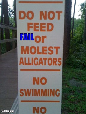 Don't Molest The Alligators