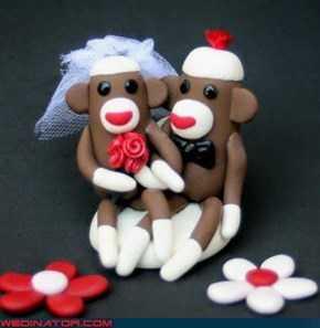 Sock Monkey Wedding Topper!!!