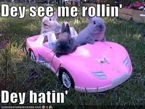 Dey see me rollin'  Dey hatin'