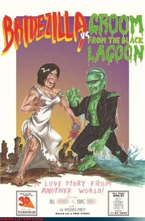 Bridezilla vs. The Groom from the Black Lagoon