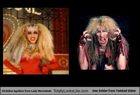 Christina Aguilera from Lady Marmalade Totally Looks Like Dee Snider from Twisted Sister