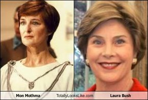 Mon Mothma Totally Looks Like Laura Bush