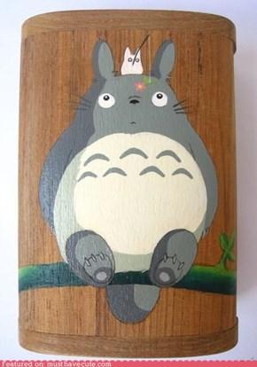 Totoro wooden box.