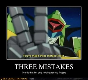 THREE MISTAKES