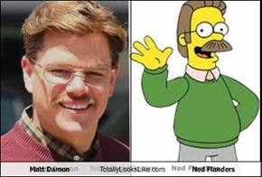 Matt Damon Totally Looks Like Ned Flanders
