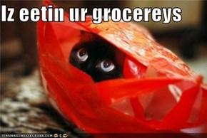 Iz eetin ur grocereys