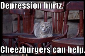 Depression hurtz.  Cheezburgers can help.