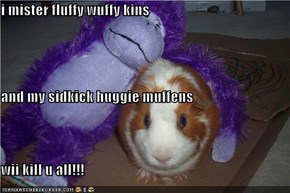 i mister fluffy wuffy kins and my sidkick huggie muffens wii kill u all!!!