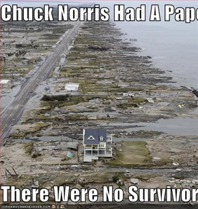 Chuck Norris Had A Paper Route  There Were No Survivors