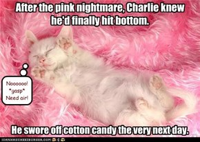 After the pink nightmare, Charlie knew he'd finally hit bottom.