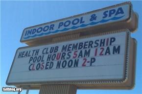 Pool Closed FAIL