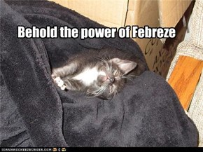 Behold the power of Febreze