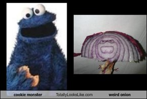 cookie monster Totally Looks Like weird onion