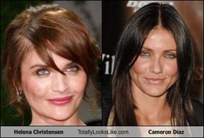 Helena Christensen Totally Looks Like Cameron Diaz