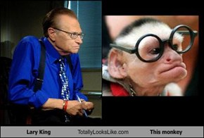 Lary King Totally Looks Like This monkey