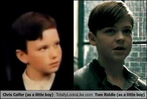 Chris Colfer (as a little boy) Totally Looks Like Tom Riddle (as a little boy)