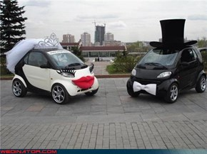 "Not Sure You Can Call 'em ""Smart Cars"" if They're Getting Married"