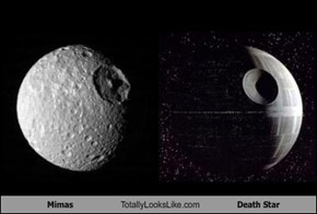 Mimas Totally Looks Like Death Star
