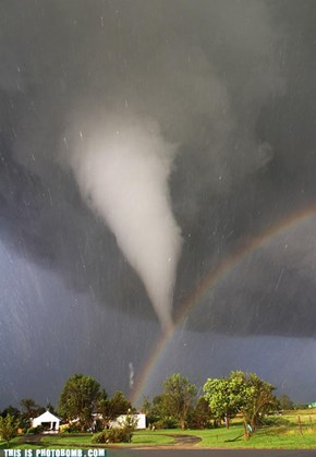 A Tornado Being Birthed From a Rainbow (A-BOMB)