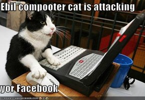 Ebil compooter cat is attacking  yor Facebook