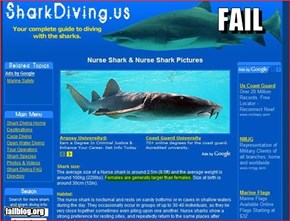 Shark Site Fail