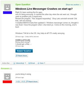 Or you should not use MSN at all...