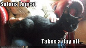 Satans Lapcat  Takes a day off...