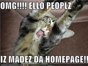 OMG!!!! ELLO PEOPLZ  IZ MADEZ DA HOMEPAGE!!!