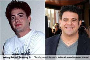 Young Robert Downey Jr. Totally Looks Like Adam Richman from Man vs Food