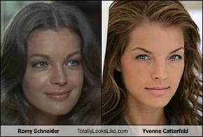 Romy Schneider Totally Looks Like Yvonne Catterfeld