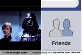Luke and Darth Vader Totally Looks Like the Facebook iPhone friends icon