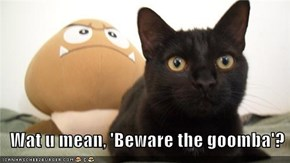 Wat u mean, 'Beware the goomba'?