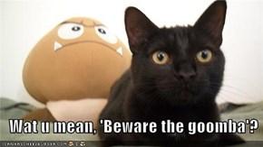 Wat u mean, 'Beware the goomba'?