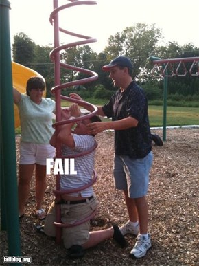 playground ladder... you're doing it wrong