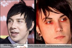 Zacky Vengeance from Avenged Sevenfold Totally Looks Like Frank Iero from My Chemical Romance