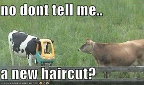 no dont tell me..  a new haircut?