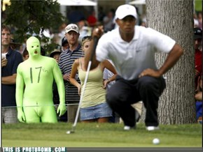 Tiger Woods is so Close to the Green