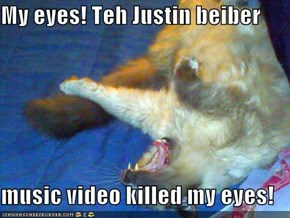 My eyes! Teh Justin beiber   music video killed my eyes!