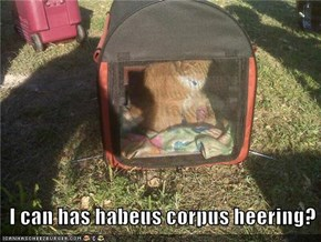 I can has habeus corpus heering?