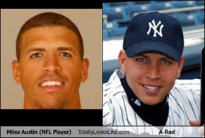 Miles Austin (NFL Player) Totally Looks Like A-Rod