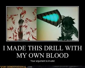 I MADE THIS DRILL WITH MY OWN BLOOD