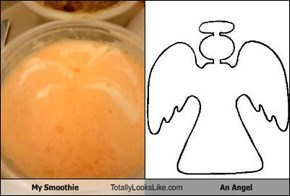 My Smoothie Totally Looks Like An Angel