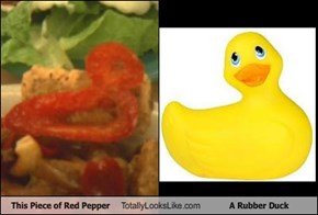 This Piece of Red Pepper Totally Looks Like A Rubber Duck