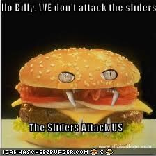 No Billy, WE don't attack the sliders  The Sliders Attack US